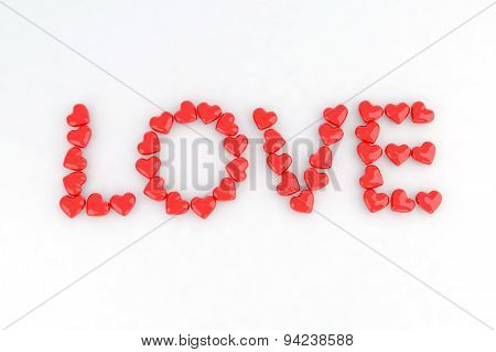 Written Love With Little Hearts