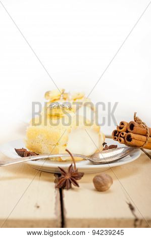 Cream Roll Cake Dessert And Spices