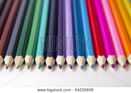 Bright Picture Of Colored Pencils