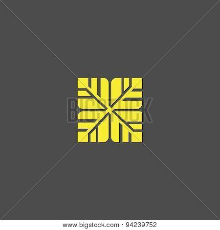 Leafs, abstract vector logo design template. Green eco creative concept icon.