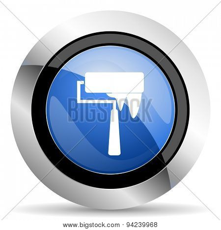 brush icon paint sign original modern design for web and mobile app on white background