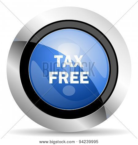 tax free icon original modern design for web and mobile app on white background