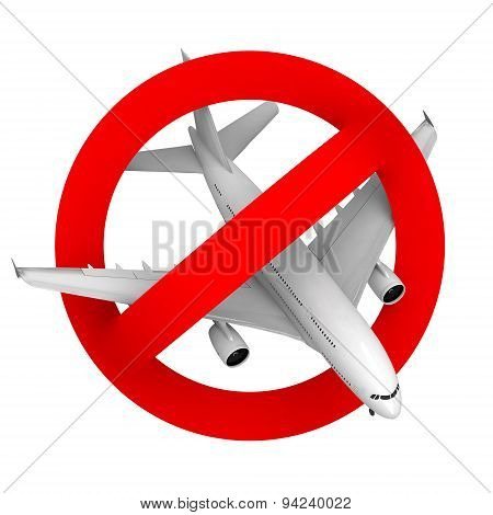 Prohibition Road Sign Airplane Fighter