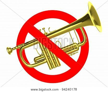 Traffic Sign Prohibited Beeps With Real Trumpet