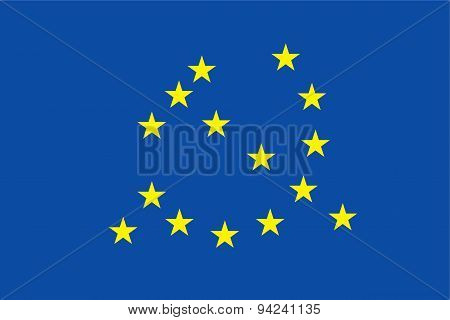 Euro Flag With Communism Symbol