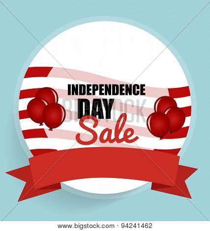 Happy independence day Sale Coupon, voucher, tag. Vector Illustration.