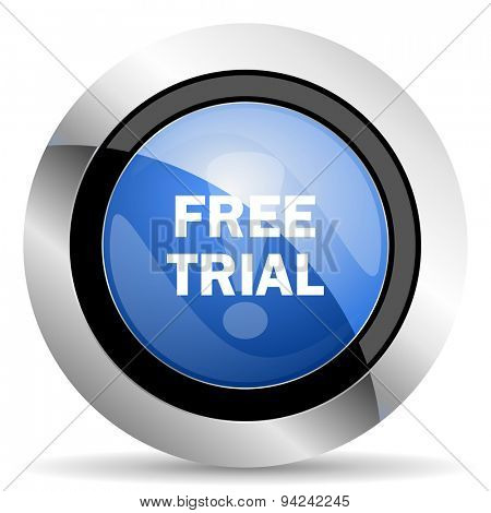 free trial icon original modern design for web and mobile app on white background