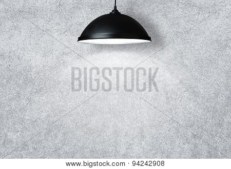 Concrete Wall Withe Lamp