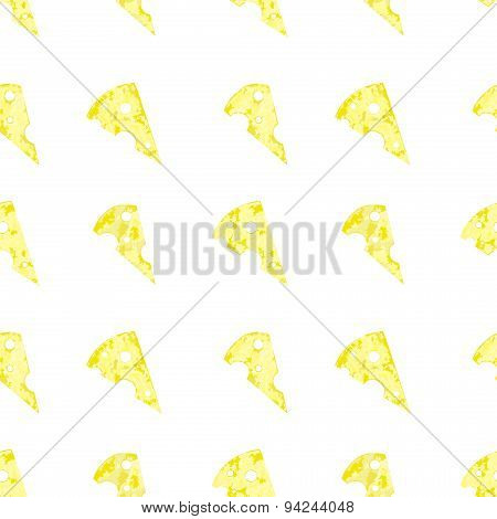 Vector cheese background in blurred style, seamless pattern