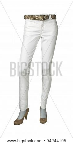 Pants For Women Isolated On A White Background