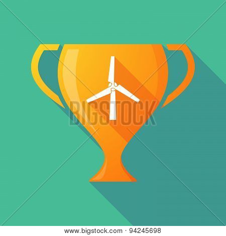 Long Shadow Trophy Icon With A Wind Generator