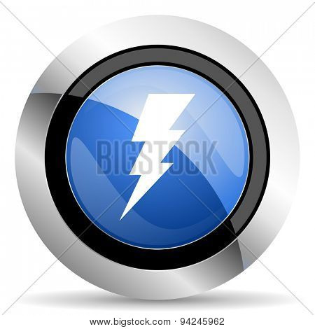 bolt icon flash sign original modern design for web and mobile app on white background