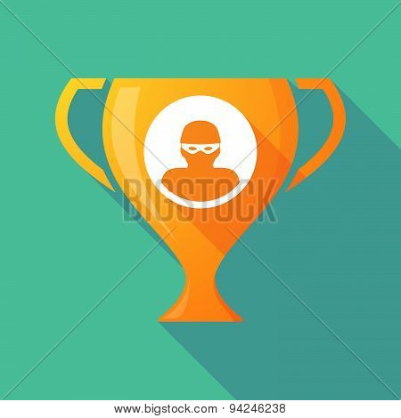 Long Shadow Trophy Icon With A Thief