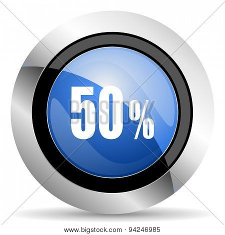 50 percent icon sale sign original modern design for web and mobile app on white background