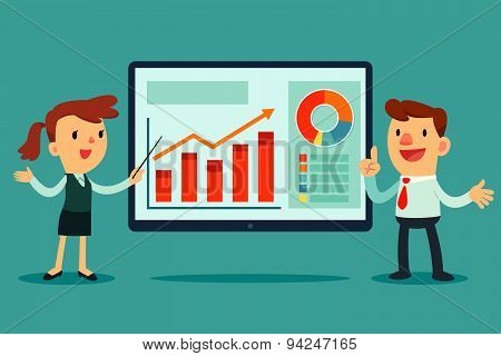 Two Business People Giving Presentation