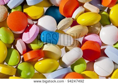 Background Of Colorful Different Medical Pills