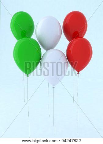 Flag Italian Balloon