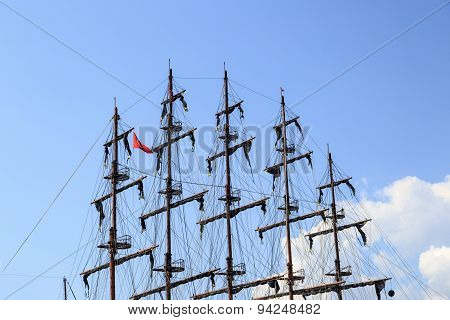 Mast Of Pirate Ship