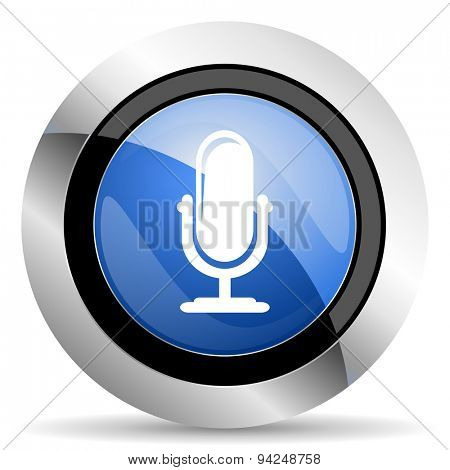 microphone icon podcast sign original modern design for web and mobile app on white background
