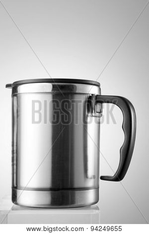 Thermal mug isolated on white