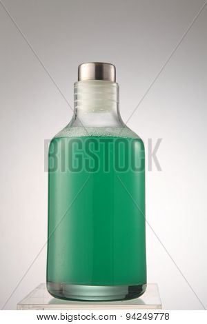 cleanser in the glass container