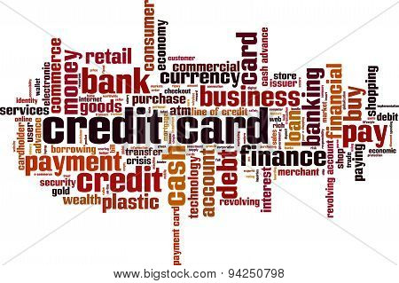 Credit Card Word Cloud