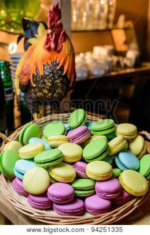 Multicolored Macaroon In A Vase