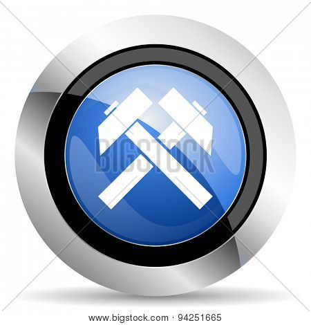 mining icon  original modern design for web and mobile app on white background