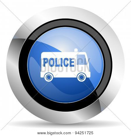 police icon  original modern design for web and mobile app on white background