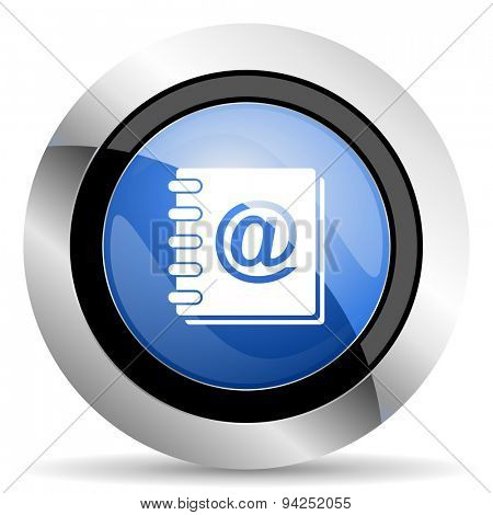 address book icon  original modern design for web and mobile app on white background