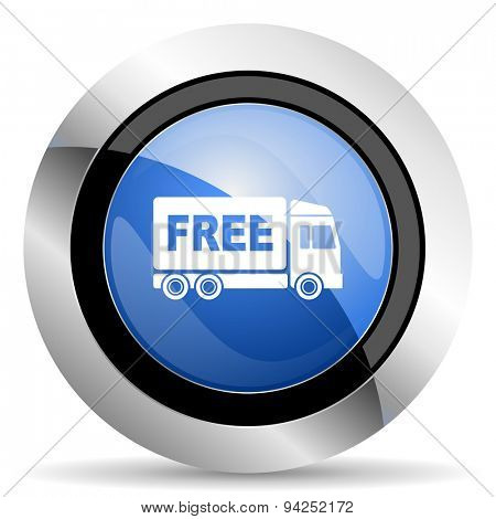 free delivery icon transport sign original modern design for web and mobile app on white background