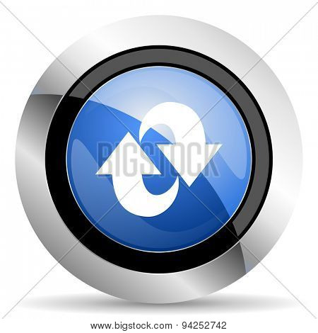 rotation icon refresh sign original modern design for web and mobile app on white background