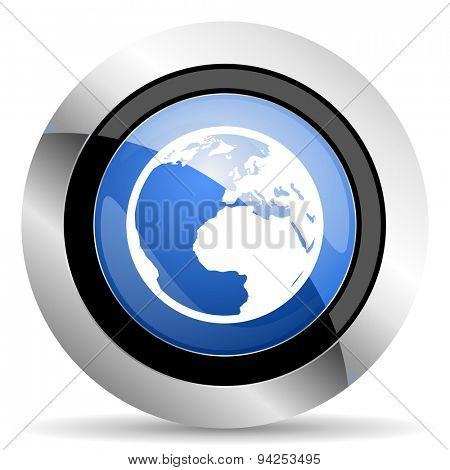earth icon world sign original modern design for web and mobile app on white background
