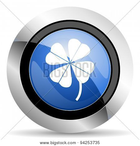four-leaf clover icon  original modern design for web and mobile app on white background