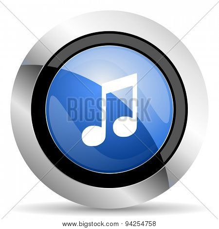 music icon note sign original modern design for web and mobile app on white background