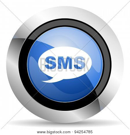 sms icon message sign original modern design for web and mobile app on white background