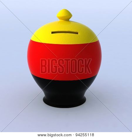 Money Box With German Flag