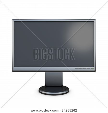 Black Monitor Front View