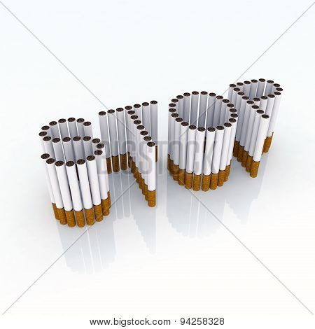 Written Stop With Cigarettes