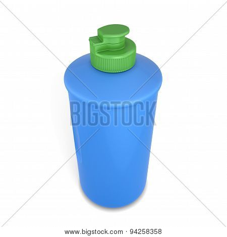 Bottle With Dishwashing Detergent