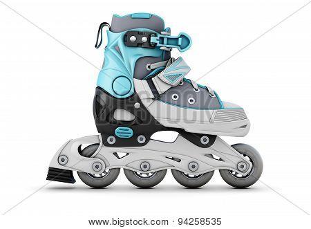 Roller Skate On A White