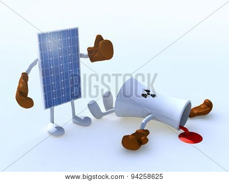 Solar Panel And Chemical Chimney Make Boxing
