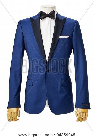 Mens Tuxedo Jacket Isolated On White