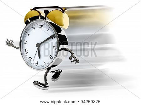 Alarm Clock With Arms And Legs Running