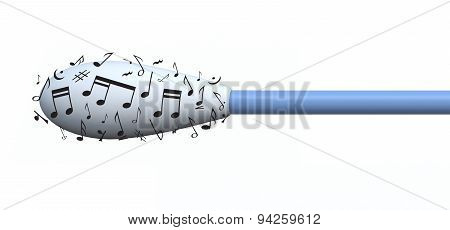 Cotton Swabs And Musical Notes
