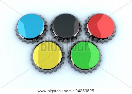 Metal Cap Olympic Rings