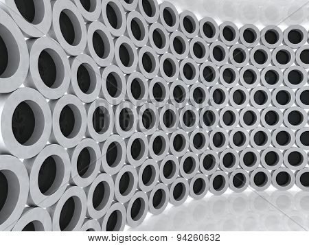Black And Grey Cylinders