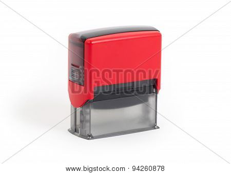 Plastic Stamp Isolated