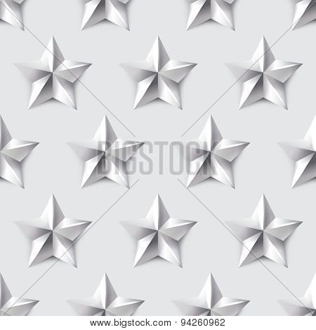 Silver Star Seamless Background