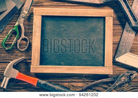 Vintage carpentry, construction hardware tools